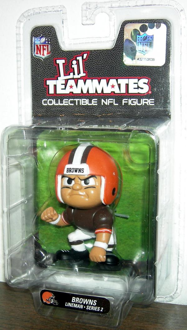 Cleveland Browns Lineman Action Figure Lil Teammates Collectible NFL