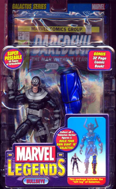 Bullseye Marvel Legends, angry