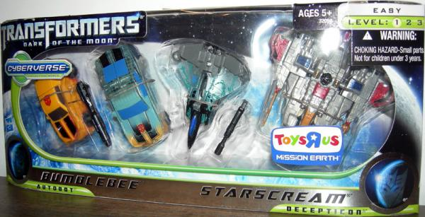 Bumblebee Starscream 4-Pack Toys R Us Exclusive
