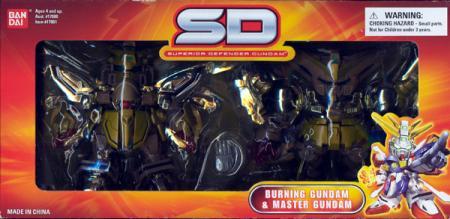 Burning Gundam Master Gundam Gold Hyper Mode Superior Defender Action Figures