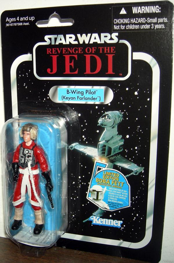 B-Wing PIlot Keyan Farlander VC63 Star Wars Revenge Jedi action figure