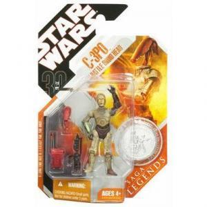 C-3PO Battle Droid Head 30th Anniversary Saga Legends