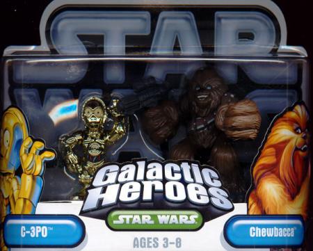 C-3PO Chewbacca Galactic Heroes