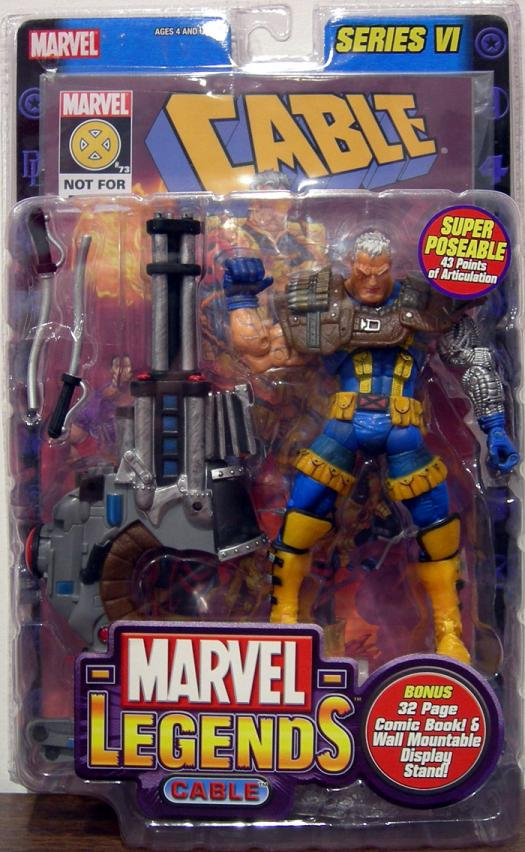 Cable Marvel Legends SeriesVI  6 Action Figure Toy Biz