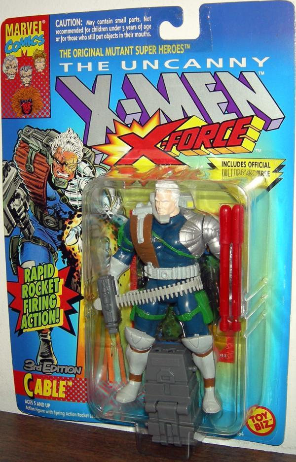 Cable 3rd Edition Action Figure X-Men X-Force Rapid Firing Rocket