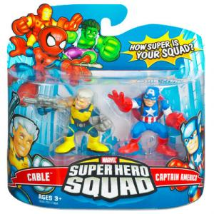 Cable Captain America Super Hero Squad action figures