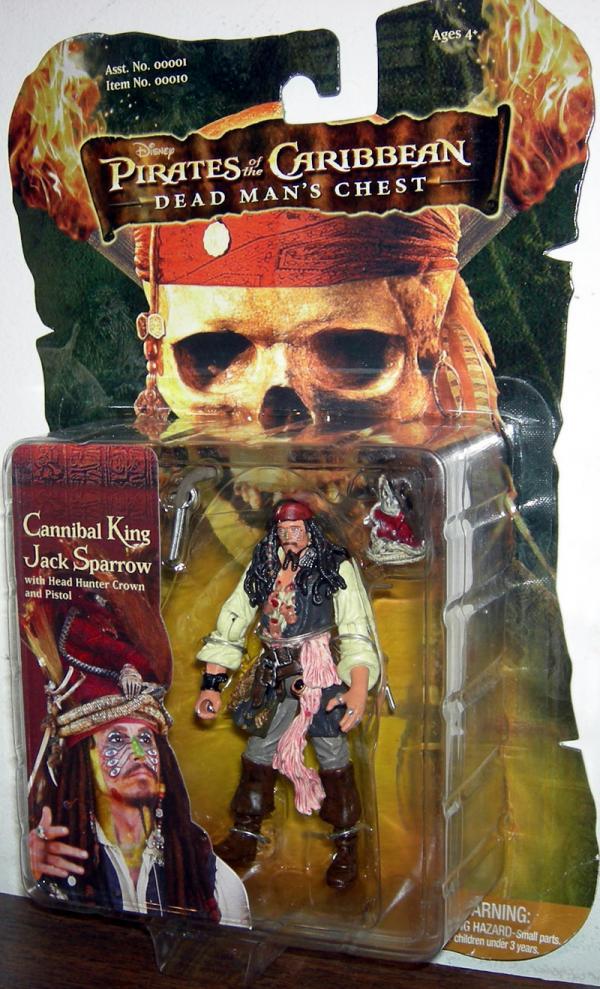 Cannibal King Jack Sparrow Action Figure Pirates Caribbean