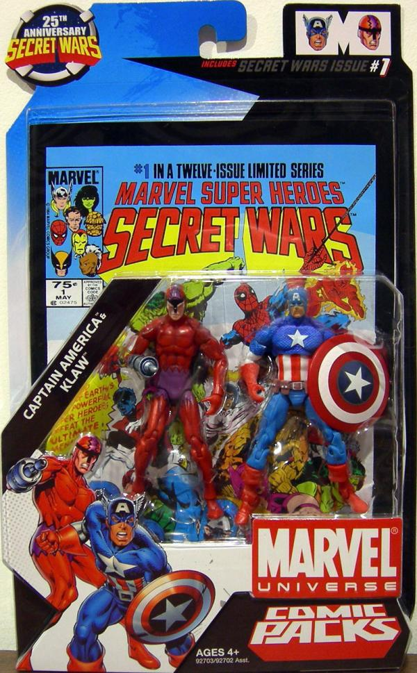 Captain America Klaw Marvel Universe Comic Packs 1