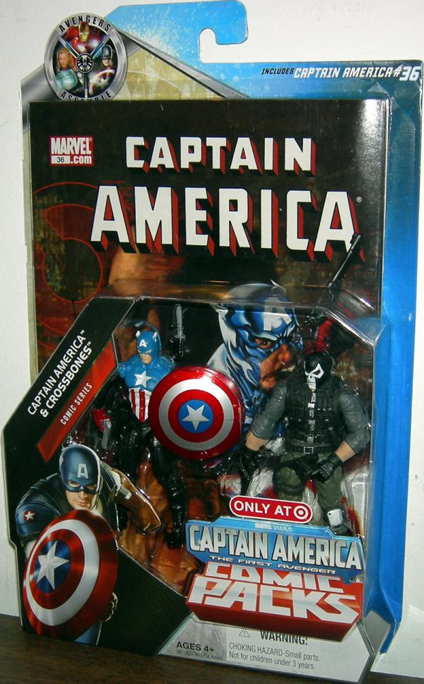 Captain America Crossbones 36 Comic Pack action figures