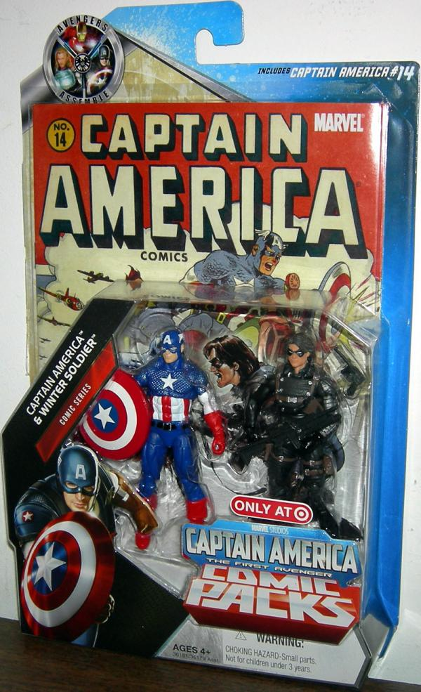 Captain America Winter Soldier Action Figures Comic Pack 14