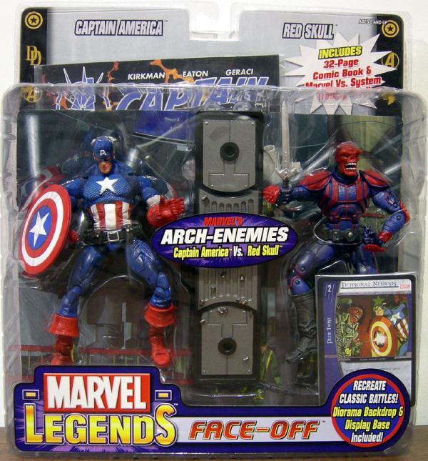 Captain America vs Red Skull Figures Marvel Legends Toy Biz