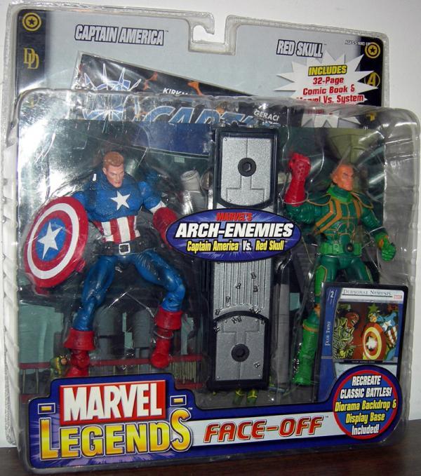 Captain America vs Red Skull Figures Marvel Legends Variant