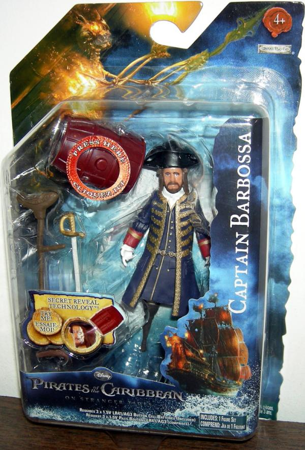 Captain Barbossa Action Figure On Stranger Tides Pirates of the Caribbean