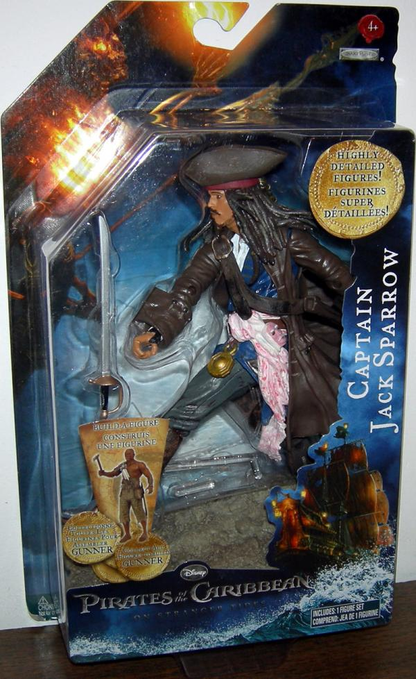 Captain Jack Sparrow Stranger Tides, build-a-figure