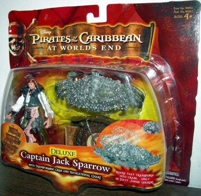 Captain Jack Sparrow Deluxe Pirates Caribbean Worlds End action figure