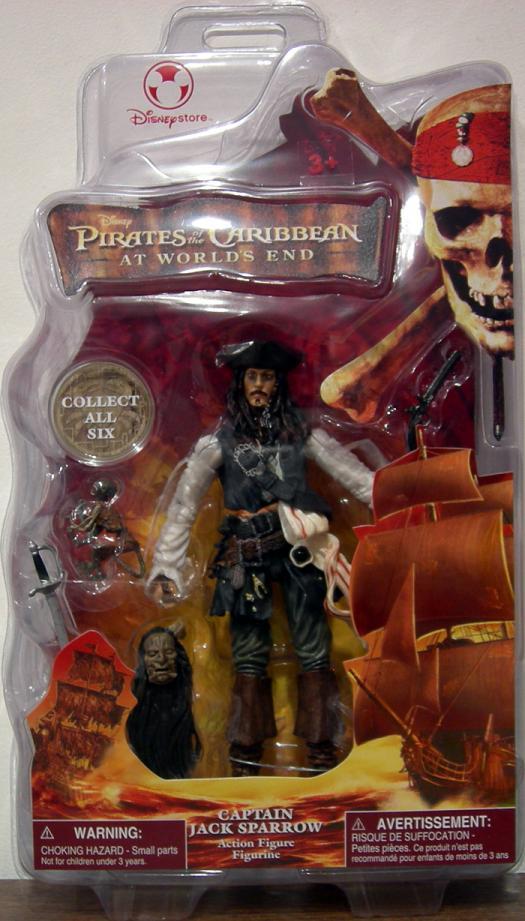 Captain Jack Sparrow Worlds End, Disney Store Exclusive