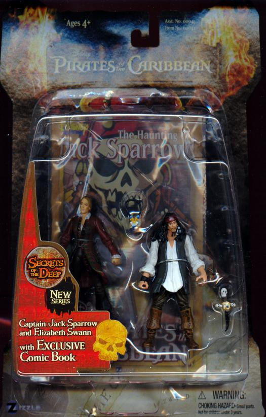 Captain Jack Sparrow Elizabeth Swann Secrets Deep action figures