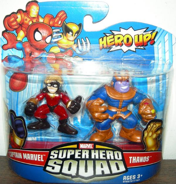 Captain Marvel and Thanos Super Hero Squad action figures