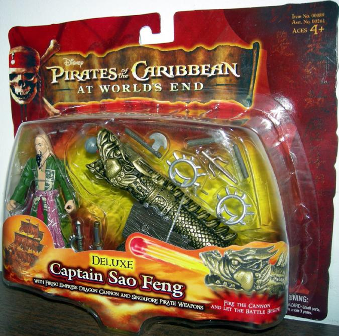 Captain Sao Feng Deluxe Figure Pirates Caribbean Worlds End