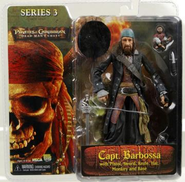 Capt Barbossa Dead Mans Chest, series 3