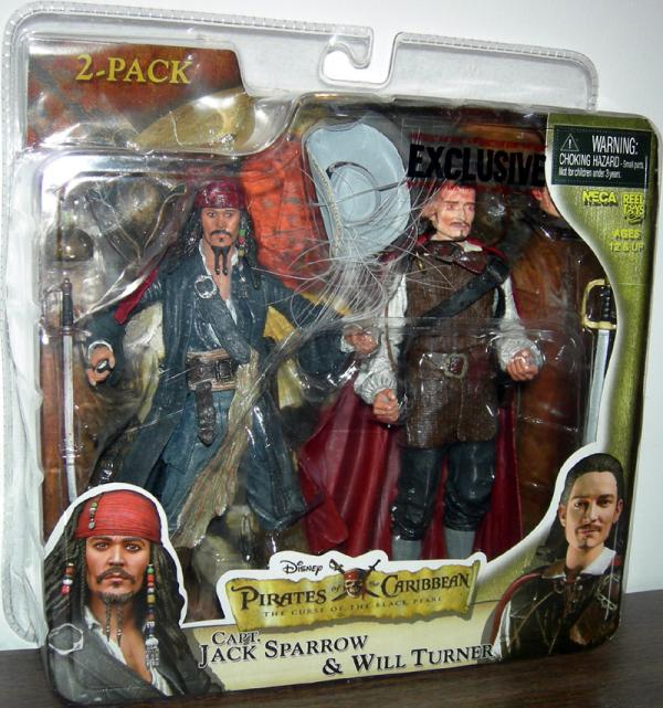 Capt Jack Sparrow Will Turner 2-Pack