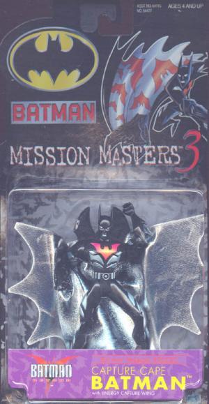 Capture Cape Batman Beyond Mission Masters 3 action figure