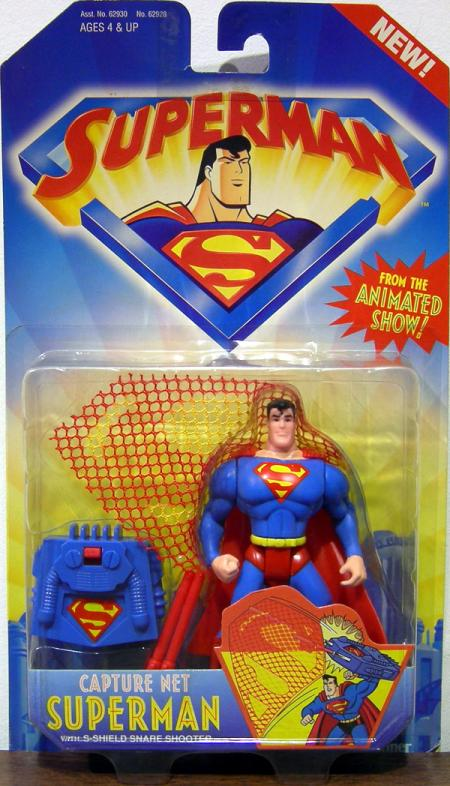 Capture Net Superman Action Figure S-Shield Snare Shooter Animated Series