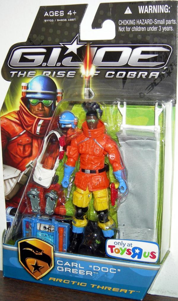 Carl Doc Greer Arctic Threat Rise Cobra action figure