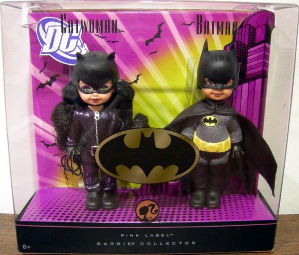 Catwoman Batman Figures Dolls Pink Label Barbie Collector