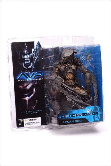 Celtic Predator Figure Alien vs Predator AVP McFarlane Toys