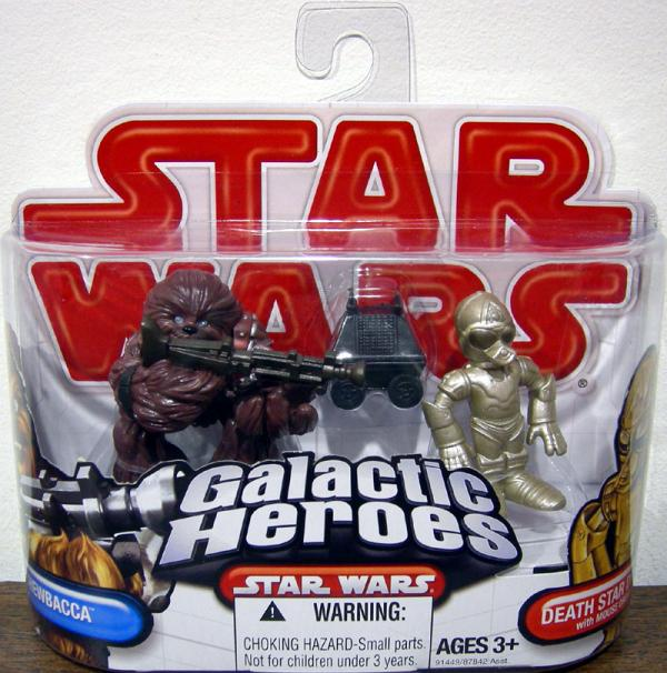 Chewbacca Death Star Droid Mouse Droid Galactic Heroes