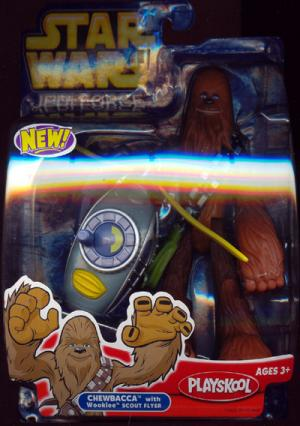 Chewbacca Wookiee Scout Flyer Jedi Force action figure