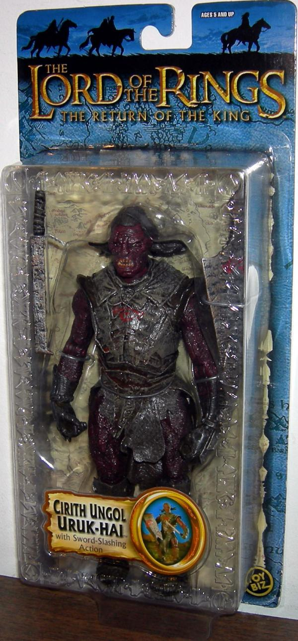 Cirith Ungol Uruk-hai Figure Lord Rings Trilogy Toy Biz