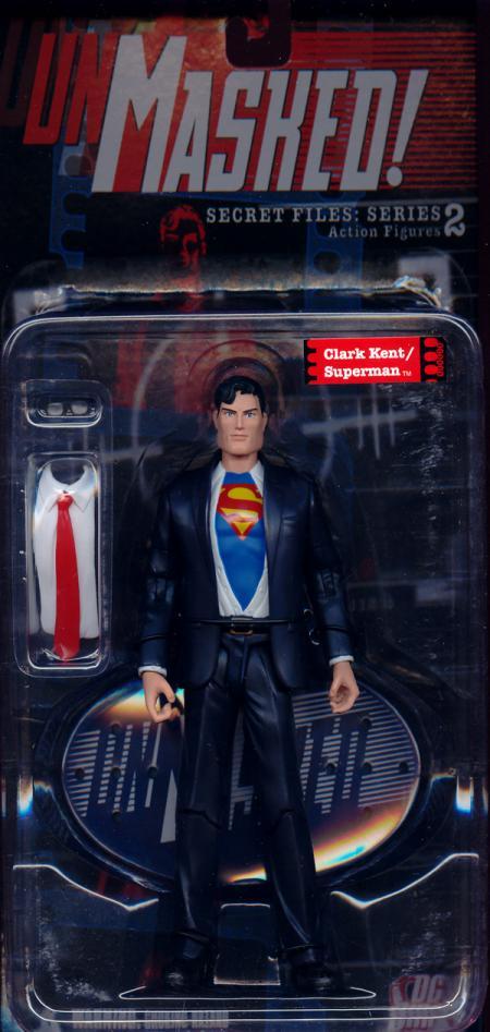 Clark Kent Superman Action Figure Secret Files Unmasked Series 2 DC Direct