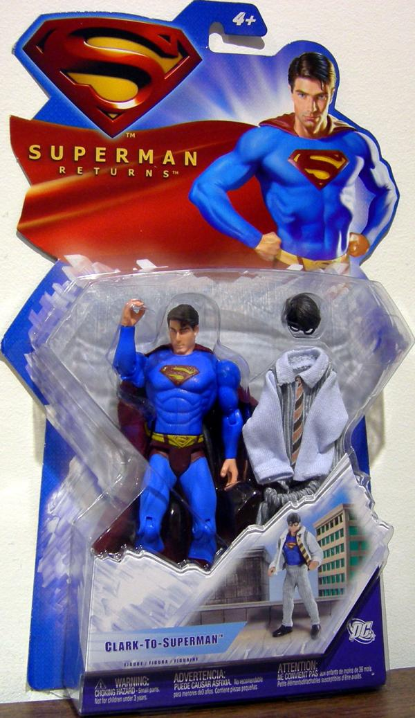 Clark-To-Superman Figure Superman Returns Mattel