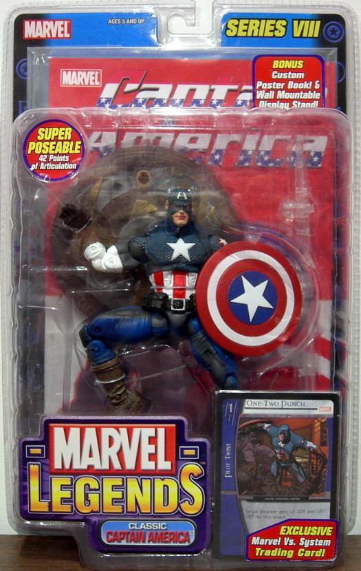 Classic Captain America Marvel Legends, gray leg stripes