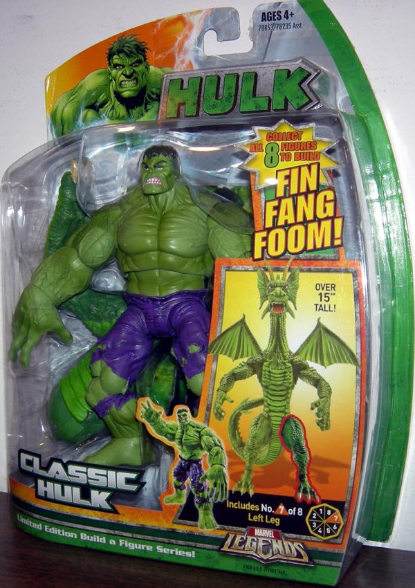 Classic Hulk Action Figure Marvel Legends Fin Fang Foom Series