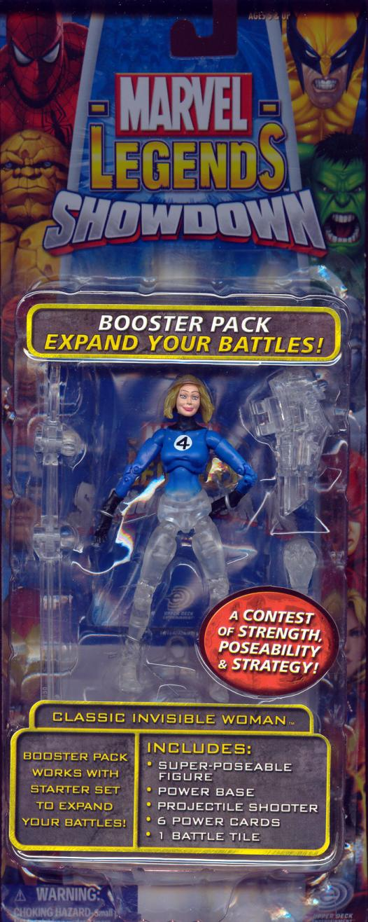 Classic Invisible Woman Marvel Legends Showdown, phasing