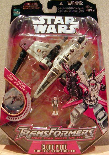 Clone Pilot ARC-170 Starfighter Transformers