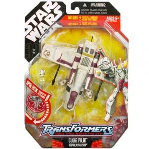 Clone Pilot Republic Gunship Star Wars Transformers Action Figure