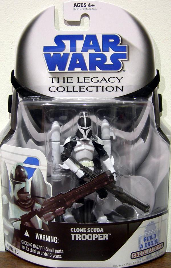 Clone Scuba Trooper Legacy Collection BD No 10 Star Wars action figure