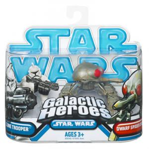Clone Trooper Dwarf Spider Droid Star Wars Galactic Heroes figures