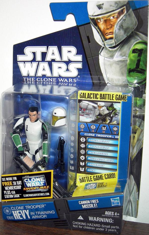 Clone Trooper Hevy Action Figure Training Armor CW41 Star Wars
