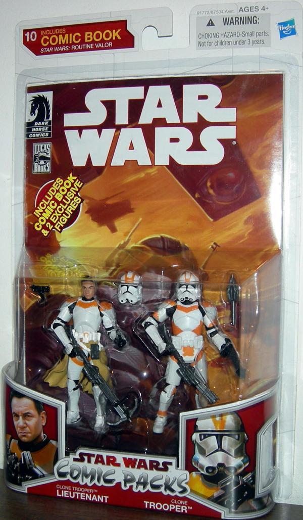 Clone Trooper Lieutenant Comic Packs 10 Star Wars action figures