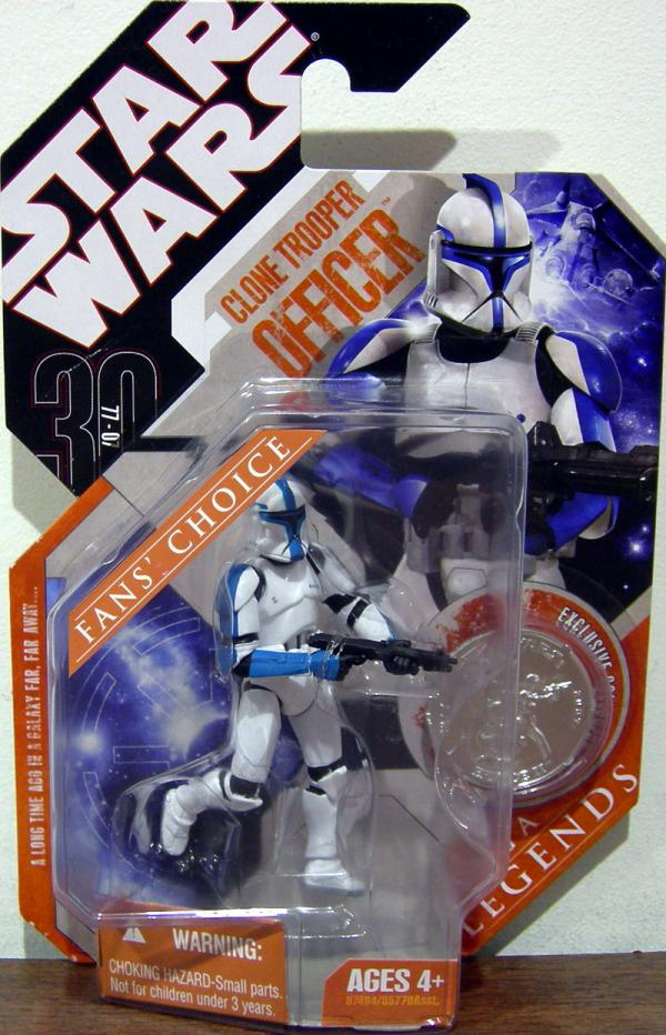 Clone Trooper Officer 30th Anniversary Saga Legends, blue