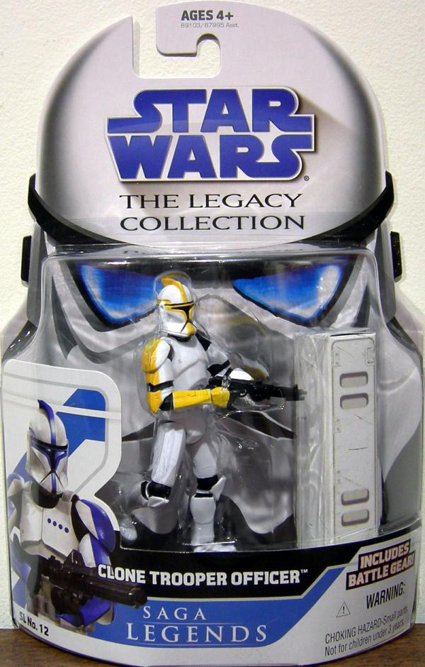 Clone Trooper Officer Legacy Collection Yellow Star Wars action figure