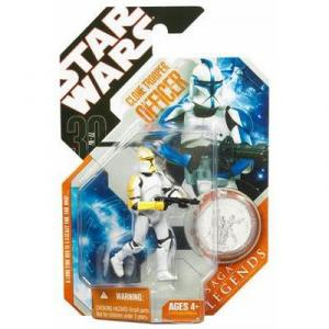 Clone Trooper Officer Figure 30th Anniversary Saga Legends Yellow Star Wars