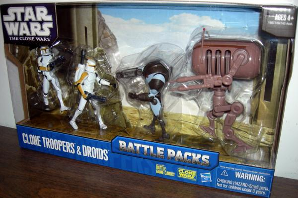 Clone Troopers Droids 4-Pack Battle Packs