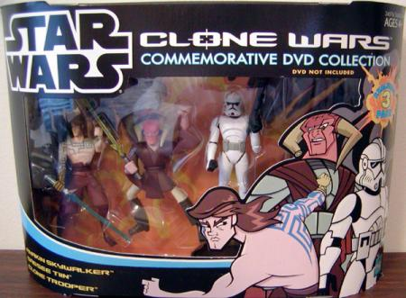 Clone Wars Commemorative DVD Collection 3-Pack Animated Pack 1