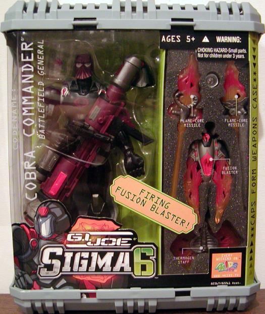 Cobra Commander Battlefield General, Sigma 6, silver cape variant
